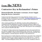 Contractor Key in Reclamation Future 10-15
